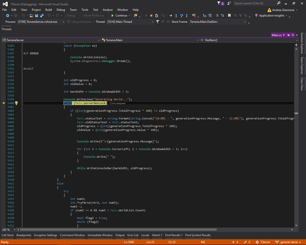 Compiler issues with Visual Studio 2015 | TShock for Terraria